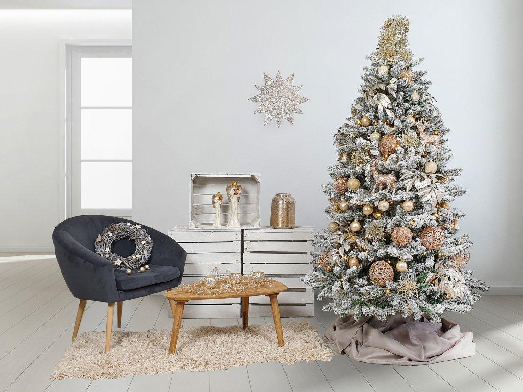 Vánoční stromek zasněžený DELUXE Viola 150 cm (1)