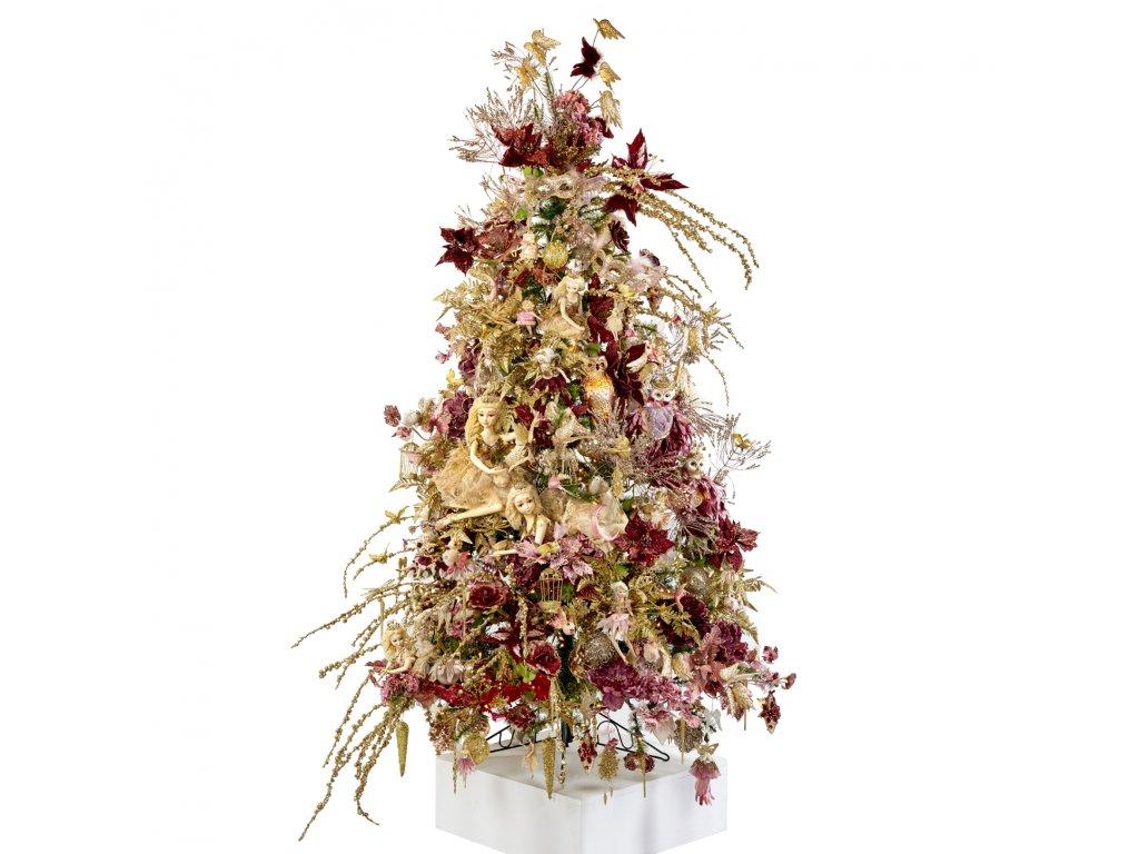 Vánoční stromek ozdobený ELEGANCE