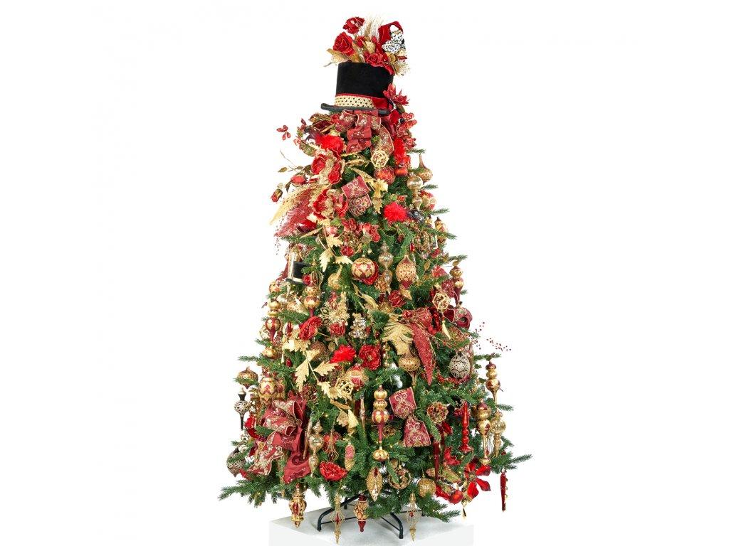 Vánoční stromek ozdobený BARONKA 225 cm