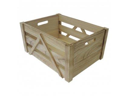 Dřevěná úložná krabice 21 x 31 x 16 cm
