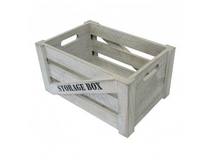 +Dřevěná úložná krabice S