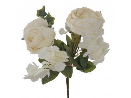 Svazek květin bílá 31 cm