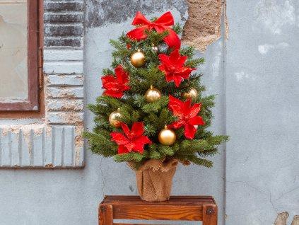 Vánoční stromek ozdobený HVĚZDNÝ TŘPYT 75 cm