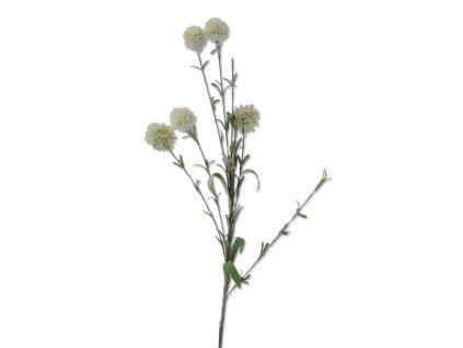+Umělá květina bílá bodlák 57 cm