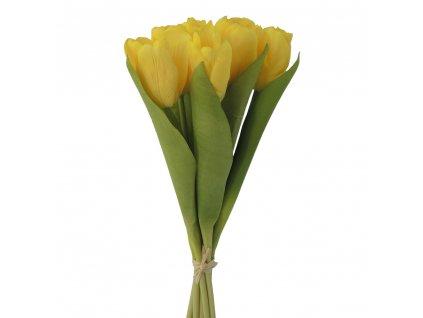 Květina svazek tulipánů žlutá 37 cm