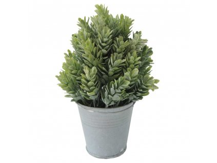 Květina v květináči zelená 19 cm