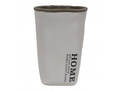 Váza cementová bílá 20 cm