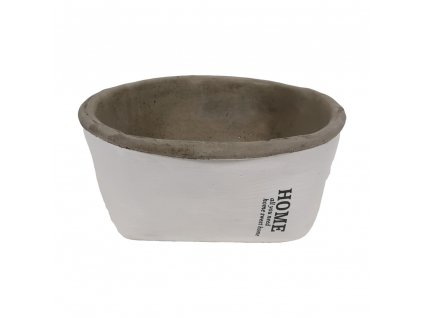 Miska cementová 15,5 cm bílá