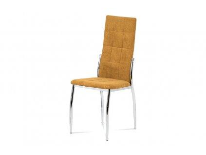 *Židle jídelní kari látka / chrom