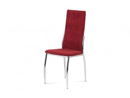 *Jídelní židle červená látka / chrom