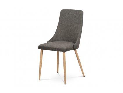 *Jídelní židle coffee látka / kov v dekoru dubu