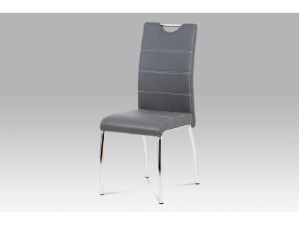 *Jídelní židle šedá koženka / chrom
