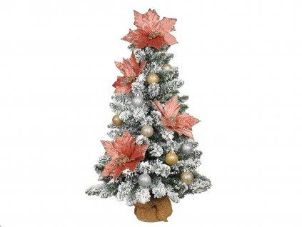 Vánoční stromek zasněžený DELUXE Viola v květináči 75 cm