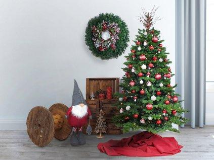 Ozdobený stromeček ZASNĚŽENÁ CHALOUPKA