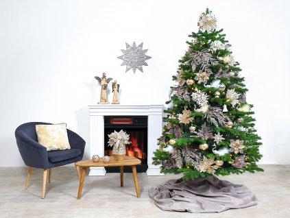 Ozdobený stromeček PŮVABNÁ CHAMPAGNE