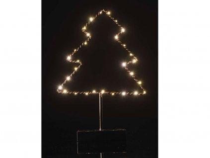 LED stromek  černá / měď 35 x 13 cm