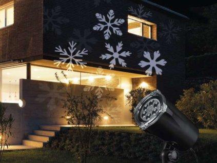 LED vánoční projektor světelný VLOČKY - vnitřní i venkovní