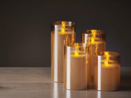 LED světelná SADA SVÍČEK - plápolající svíčky