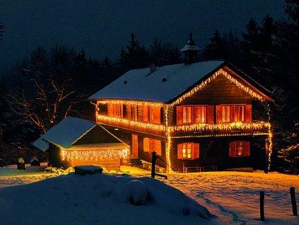 Vánoční světelný řetěz s převisy TEPLÁ BÍLÁ 2,5 m - spojovací