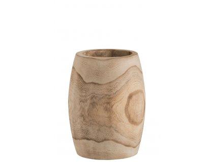 Váza dřevěná 31 cm