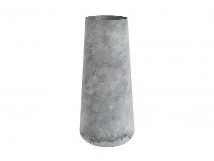 Váza světle šedá 50 x 21 cm