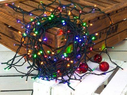 Vánoční světelný řetěz BAREVNÝ 18m