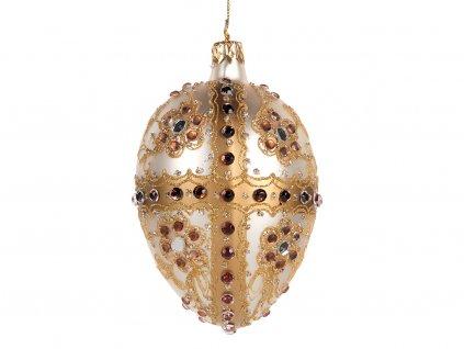Ozdoba Fabergého vejce 10 cm