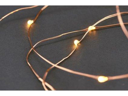 LED drátek měděný TEPLÁ BÍLÁ 0,9 m