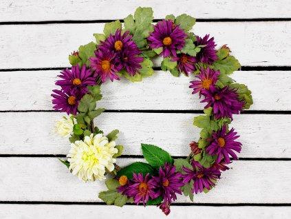 Věnec s květinami 37 cm