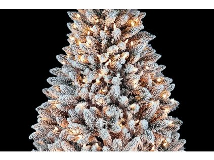 artificial christmas tree pvc snow tree deluxe frosted pine smart led 5 feet