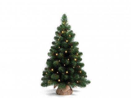 Vánoční stromek Narnie v květináči 45 cm s LED OSVĚTLENÍM