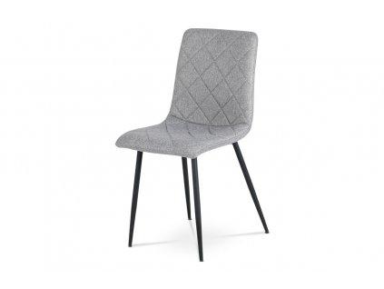 Jídelní židle stříbrná látka / kov