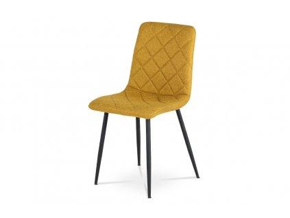 *Židle jídelní žlutá látka / kov