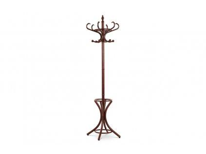 Věšák dřevěný hnědý pololesk 185 cm