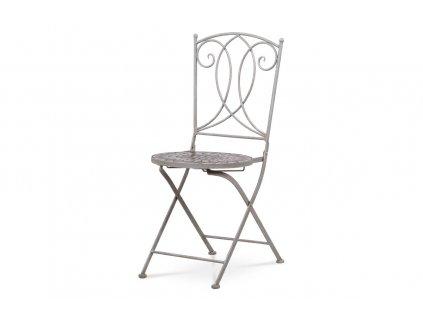 Zahradní židle keramická mozaika / kov šedý