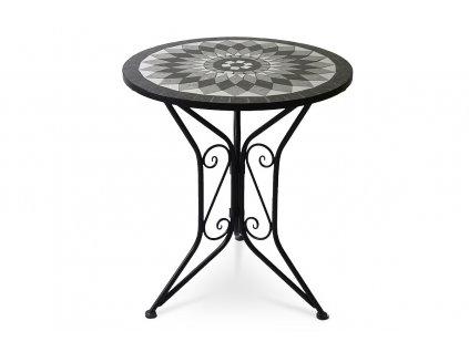 Zahradní stolek černý / kov 61 x 70 x 61 cm