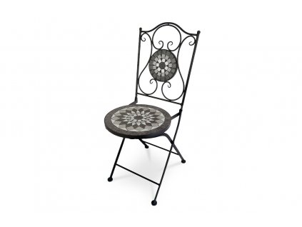 Jídelní židle s mozaikou / kov