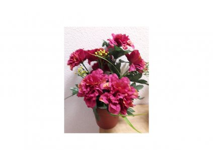 Květina v květináči Azalka vínová 18 x 24 x 18 cm