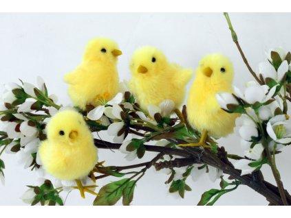 Sada 12 ks dekorací: Velikonoční kuřátko 7 x 6 x 5 cm