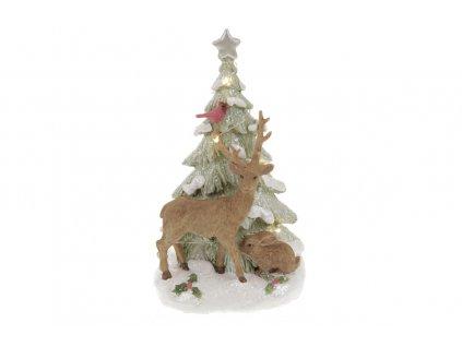 Sob a vánoční stromek s LED světlem 12 x 20 cm
