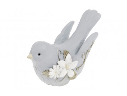 Sada 4 ks dekorací: Ptáčci v modré barvě 9,8 cm
