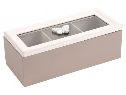 Sada 2 ks: Krabičky na čajové sáčky dřevěné