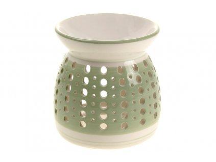 Sada 2 ks dekorací: Aroma lampy keramické, zelené 11 cm
