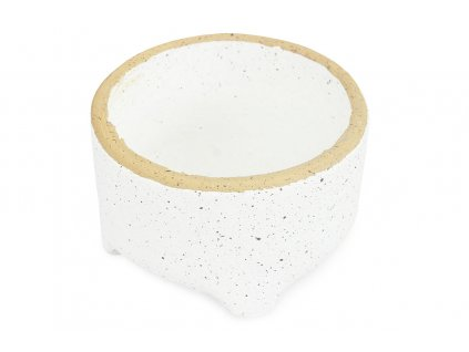 Sada 2 ks květináčů: Květináč betonový, bílý 15,5 x 15,5 x 9 cm