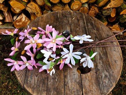 Květiny růžovo-bílé  88 cm