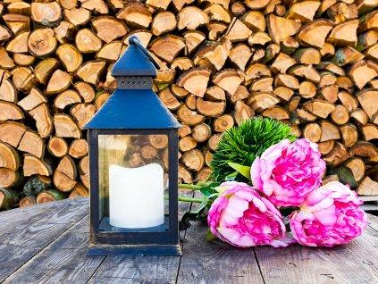 LED Lucerna světelná hnědá