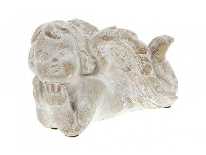 Andělíček z betonu 13 × 9,5 × 9 cm