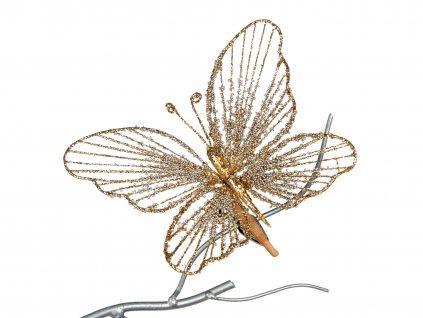 Motýli na klipu 2 x 18 cm