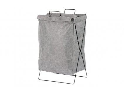 Koš na prádlo plátěný, šedý 37 x 25 x 56 cm