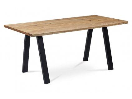 Jídelní stůl dub / kov 160x90x75 cm